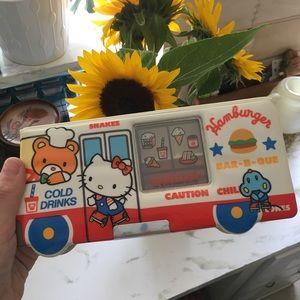 RARE! Hello Kitty hamburger truck pencil case!